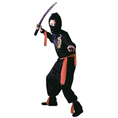 Black Ninja Child Costume (Medium): Toys & Games