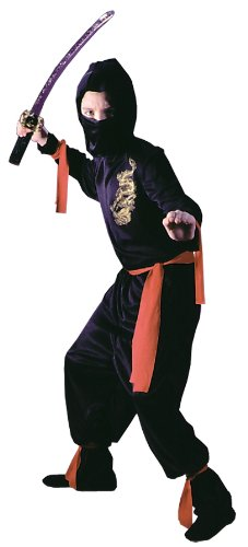 Halloween FX Black Ninja Child Costume (Medium) ()