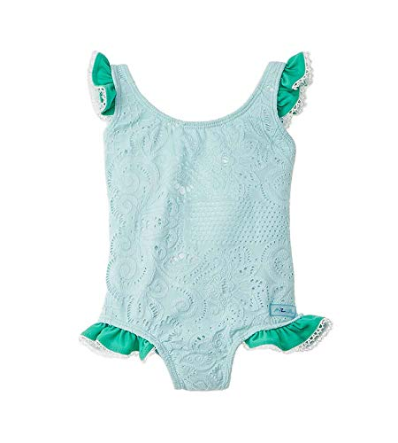 Azul Girls Swimwear Breakfast at Tiffany's One-Piece, 12M Aqua