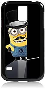 Minion Mustache Doorway - Hard Black Plastic Snap - On Case-Galaxy s5 i9600 - Great Quality!