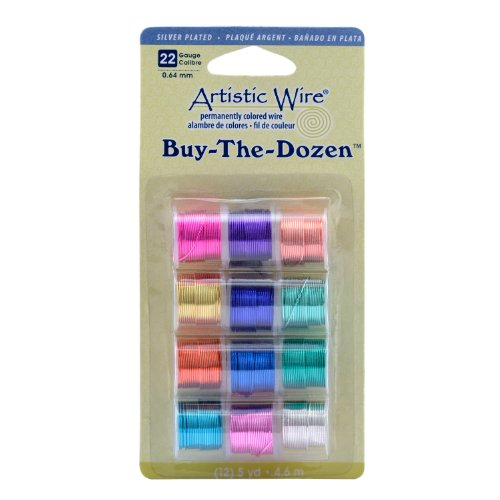 Silver Dozen Plated (Artistic Wire 22-Gauge Silver Plated Buy-The-Dozen Wire)
