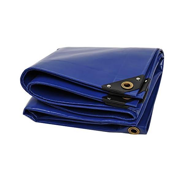 41BvGM7WPSL NEMAXX PLA32 Premium Abdeckplane 300x200 cm blau mit Ösen, 650 g/m² PVC wasserdicht&reißfest - hochwertige Plane…