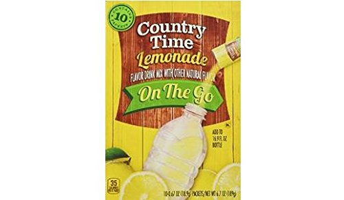 Country Time Lemonade to Go Singles (Pack of 2) 10 Count Boxes ()