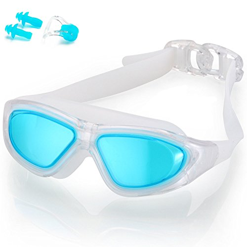 Naga Sports Diver Swimming Goggles - Anti Fog Anti Shatter Leakproof Waterproof with UV Protection for Men Women Kids Adults - Light - Swimming For Googles
