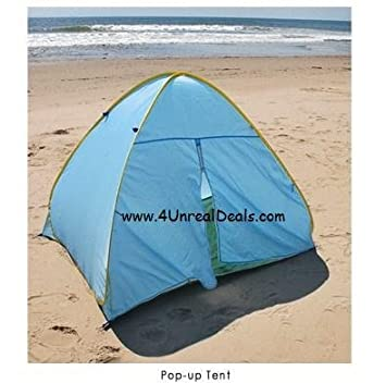 Deluxe Pop Up Beach Tent Sun Shelter with Zipper Privacy Door Family Cabana Sun Wind Tent  sc 1 st  Amazon.com & Amazon.com: Deluxe Pop Up Beach Tent Sun Shelter with Zipper ...