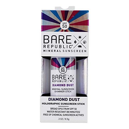 - Bare Republic Mineral SPF50 Holographic Stick, Metallic Diamond Dust.Natural Marshmallow, 8.5 Gram