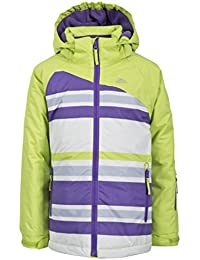 girls Trespass Girls Golda Waterproof Padded Striped Ski Jacket