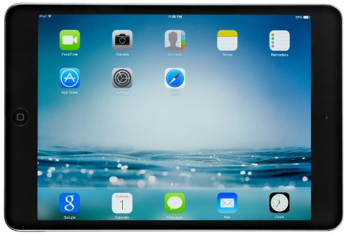 Apple iPad mini 2 with Retina Display ME856LL/A (128GB, Wi-Fi, Black with Space Gray) OLD VERSION