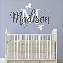Quotes Wall Stickers Removable Vinyl Art Decal Personalized Baby's Name Monogram Kids Room