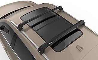 JEGUAR F-PACE SUV BLACK ROOF RACK CROSS BARS FLUSH RAILS LOCABLE 2016-ONWARDS