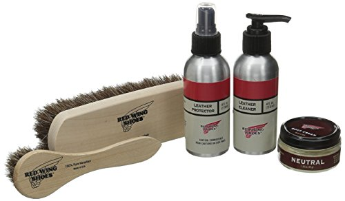 Red Wing Heritage Smooth-Finished Leather Care Kit, Clear, 20 M US