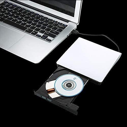 DVDドライブ 外部USB3.0 DVD +/- R 8倍速、DVD-RW 4倍速、CD-R 24X DVD8X DVD-バーナー読むライター外付けドライブ JPLJJ