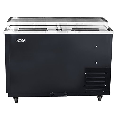 Commercial Deep Well Horizontal Bottle Cooler - KITMA 50 Inches Beer Coolers for Bottles for Restaurant Bar, 33°F - 38°F