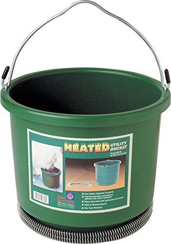 Farm Innovators-Farm-Plastic Heated Bucket- Green 2 Gallon