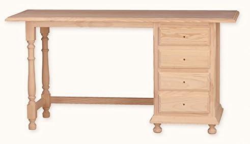 Muebles Natural - Mesa de Estudio 150 cm– Escritorio de Madera con ...