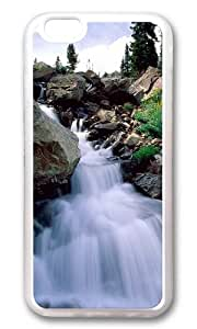 iPhone 6 Plus Case,VUTTOO iPhone 6 Plus Cover With Photo: Nature Waterfall For Apple iPhone 6 Plus 5.5Inch - TPU Transparent