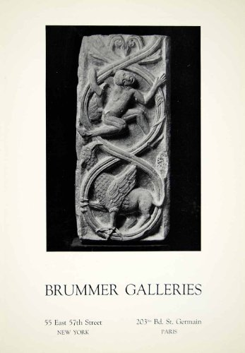 1931 Ad Brummer Art Galleries 55 E 57th St NY 203bis Bd St Germain Paris France - Original Print - St Galleria