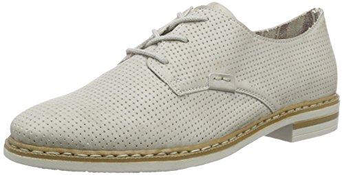 Rieker 50615 - Zapatos de cordones derby Mujer Blanco - blanco (ice / 80)