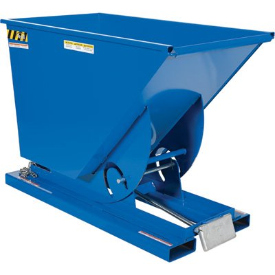 (Vestil D-75-MD Medium Duty Self-Dumping Hopper with Bumper Release, 4000 lbs Capacity, Overall L x W x H (in.) 61-1/8