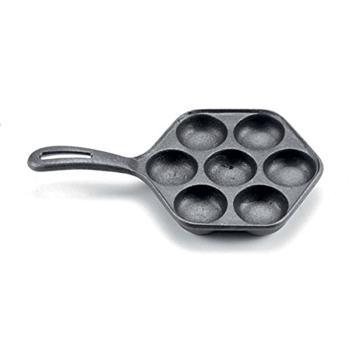 Norpro Cast Iron Danish Aebleskiver Pan Makes 7 Filled Pastries 6.5 Inches New (Danish Cast Iron compare prices)