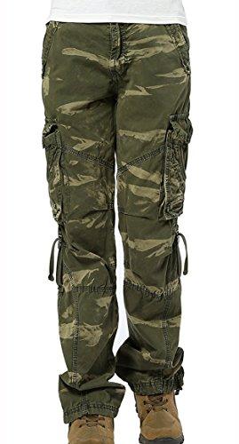 Poche Combat Dsinvolte Jeans Army Femmes Urbanboutique Cargaison Six Pantalon Camo Militaire Coton xSqwZ4g