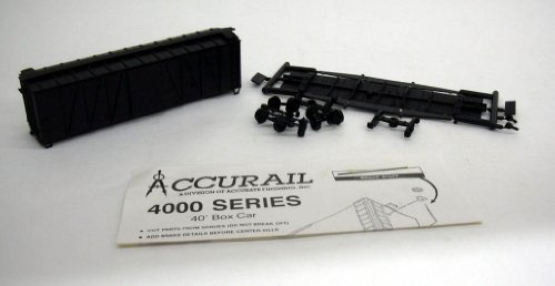 Accurail HO Undeocrated 40' Box Car kit #4000 unbuilt 1960s