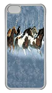 diy phone caseWinter Run Horse PC Case Cover for ipod touch 5 Transparentdiy phone case