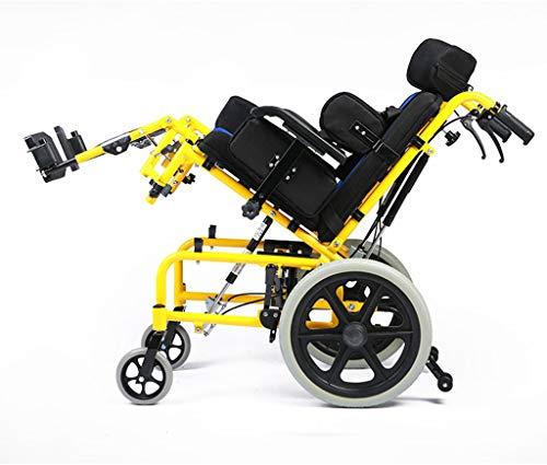 Ligero y plegable Silla de ruedas para niños Conducción Médica Multifuncional Totalmente tumbado Reclinado Silla de ruedas Coche Niño Silla de ruedas ...