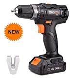 Tacklife PCD06B 20V MAX Lithium-Ion 3/8'' Cordless Drill Driver, 2-Speed Max Torque 265 In-lbs 19+1 Position with LED, Compact Battery Cell and Charger Included