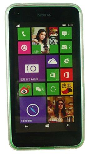Emartbuy® Nokia Lumia 630 / Lumia 635 Silicona Funda Carcasa Case Cover Rojo Claro Ultrafina a Presión TPU Gel