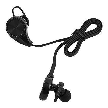 eDealMax Deporte sudor Prueba de reducción de ruido auriculares estéreo inalámbrica Bluetooth Negro