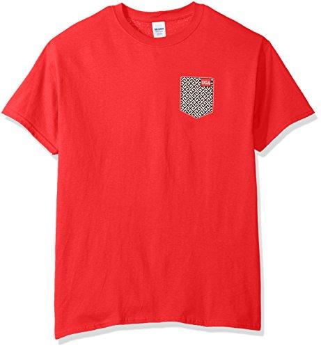 New World Graphics NCAA Georgia Bulldogs Faux Pocket Short Sleeve, X-Large, Red -