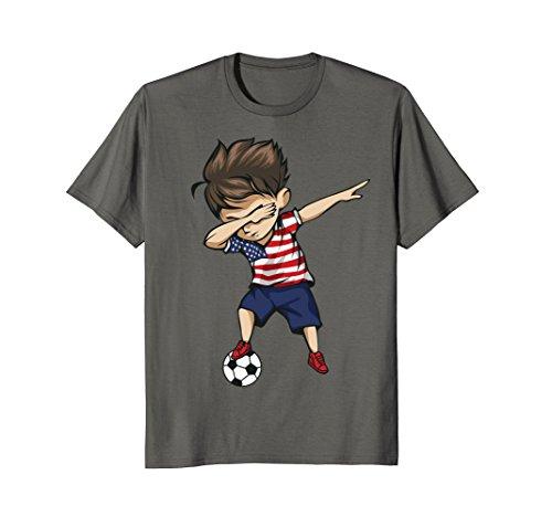 Dabbing Soccer Boy United States Jersey Shirt - USA Football Team Flag Football Jersey