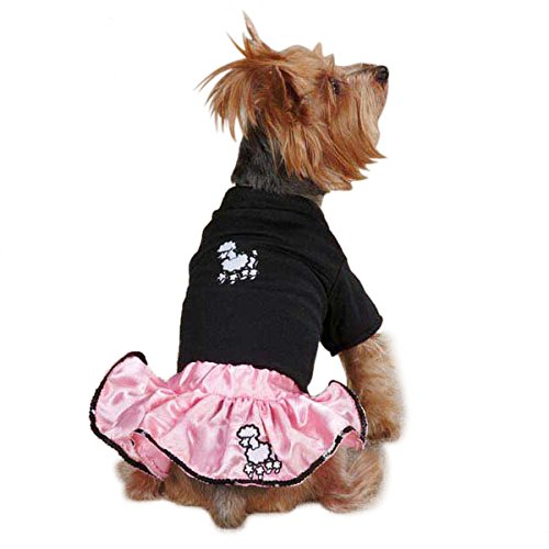 Casual Canine ZM3737 20 75 Pet Poodle Set, Large, (Poodle Skirt For Dogs)