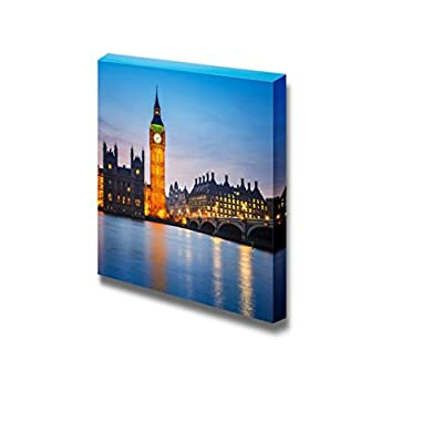 Beautiful Scenery of Big Ben and Houses of Parliament at Night London - Canvas Art Wall Art - 24