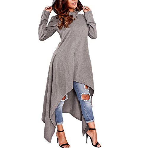 Women's Hoodie Sweatshirts Dress Long Sleeve Plain Asymmetrical