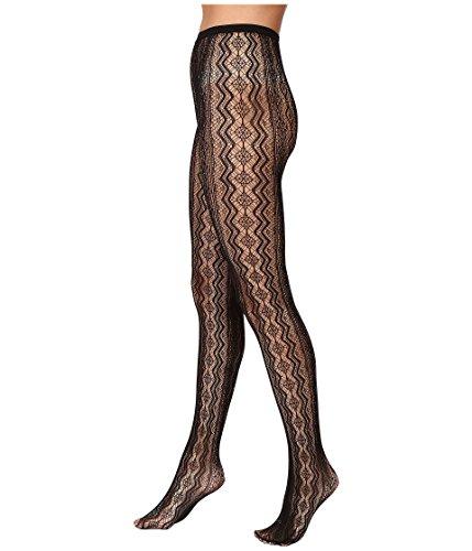 HUE Women's Vertical Diamond Net Tights Black Tights SM/MD (Black Diamond Net Tights)