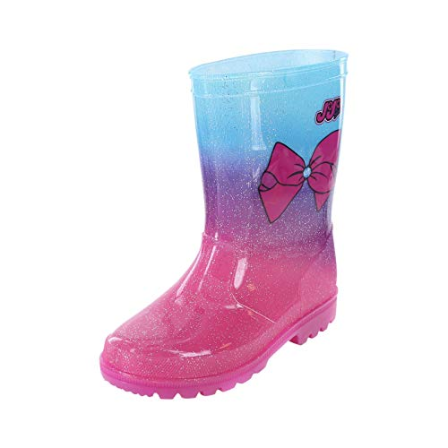 Nickelodeon Shoes Pink Girls' JoJo Bow Rain Boot 1 Regular (Payless Shoes For Girls Boots)