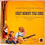 The Longines Symphonette Rcording Society Presents The Great Memory Folk Songs