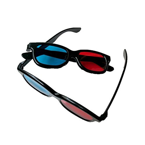 Red Blue Cyan Anaglyph Simple Style 3d Glasses 3d Movie