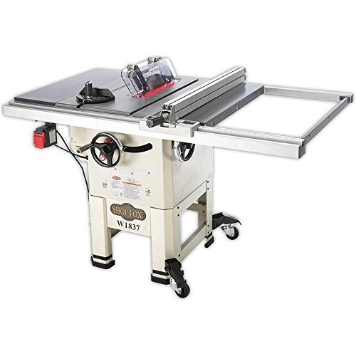 Shop Fox W1837 10″ 2 hp Open-Stand Hybrid Table Saw