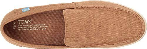 TOMS Womens Canvas Closed Toe Loafers, Toffee Hemp, Size 10.5