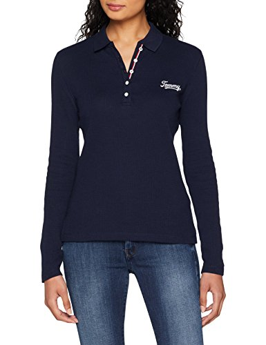 Tommy Essential Tjw Jeans Black Blu Polo 002 Iris Textured Donna OErEA6