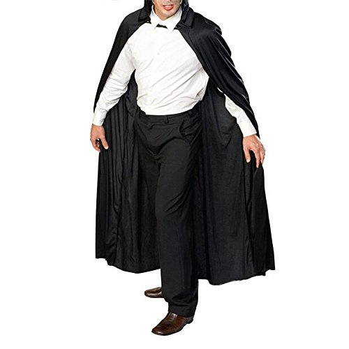 [Herebuy8 Men Women Full Length Hooded Cloak Cape Cosplay Costume Masquerade Accessory] (Purple Hooded Robe Adult Costumes)