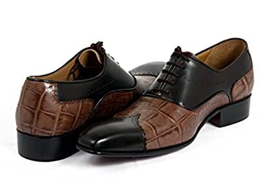 Mens Formal Bruno Brown Spectator Real Leather Shoes_9.5""