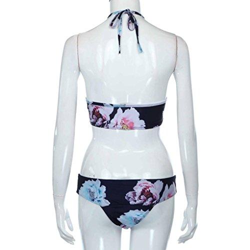 Magiyard Push-up acolchado traje de baño Swimwear Bañador mujer floral conjunto de bikini Multi
