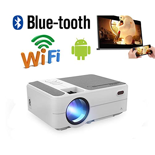 Mini Portable Wireless Bluetooth Video Projectors Home Theater Bluetooth WiFi HDMI Android LCD LED Smart Movie Gaming Projector Support HD 1080P 720P Outdoor Airplay USB VGA AV Audio SD/TF Card