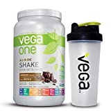 Vega One All-In-One Plant Based Protein Powder Chocolate with Shaker Bottle - Plant