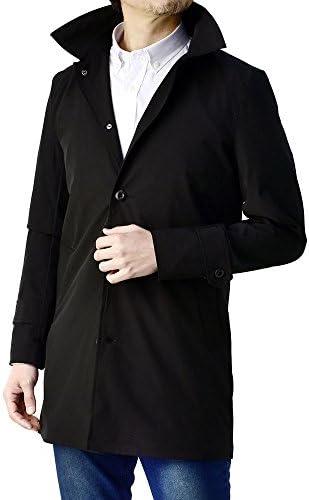 ステンカラーコート メンズ スプリングコート ショップコート 防風 ストレッチ / B0E