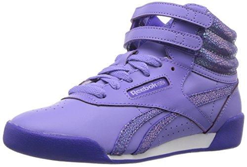 Children Watches Shoe (Reebok Unisex Freestyle Hi Sneaker, Cd-Moonpool/Ultima Purple, 12 M US Little Kid)